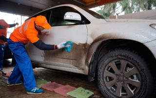 Сухая мойка автомобилей как бизнес и ее проведение своими руками