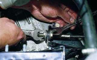 Регулировка привода (педали) сцепления