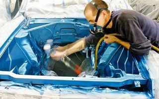 Как покрасить автомобиль под капотом