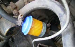 Замена фильтра тонкой очистки топлива на автомобиле