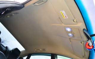 Перетяжка потолка автомобиля своими руками