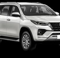 Цена нового внедорожника Toyota Fortuner в России