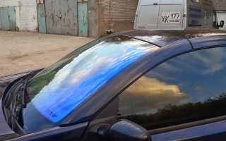 Фиолетовая тонировка на лобовое стекло: атермальная пленка для авто