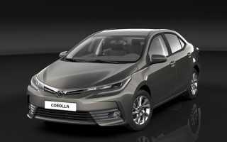 Рестайлинговый седан Toyota Corolla 2017
